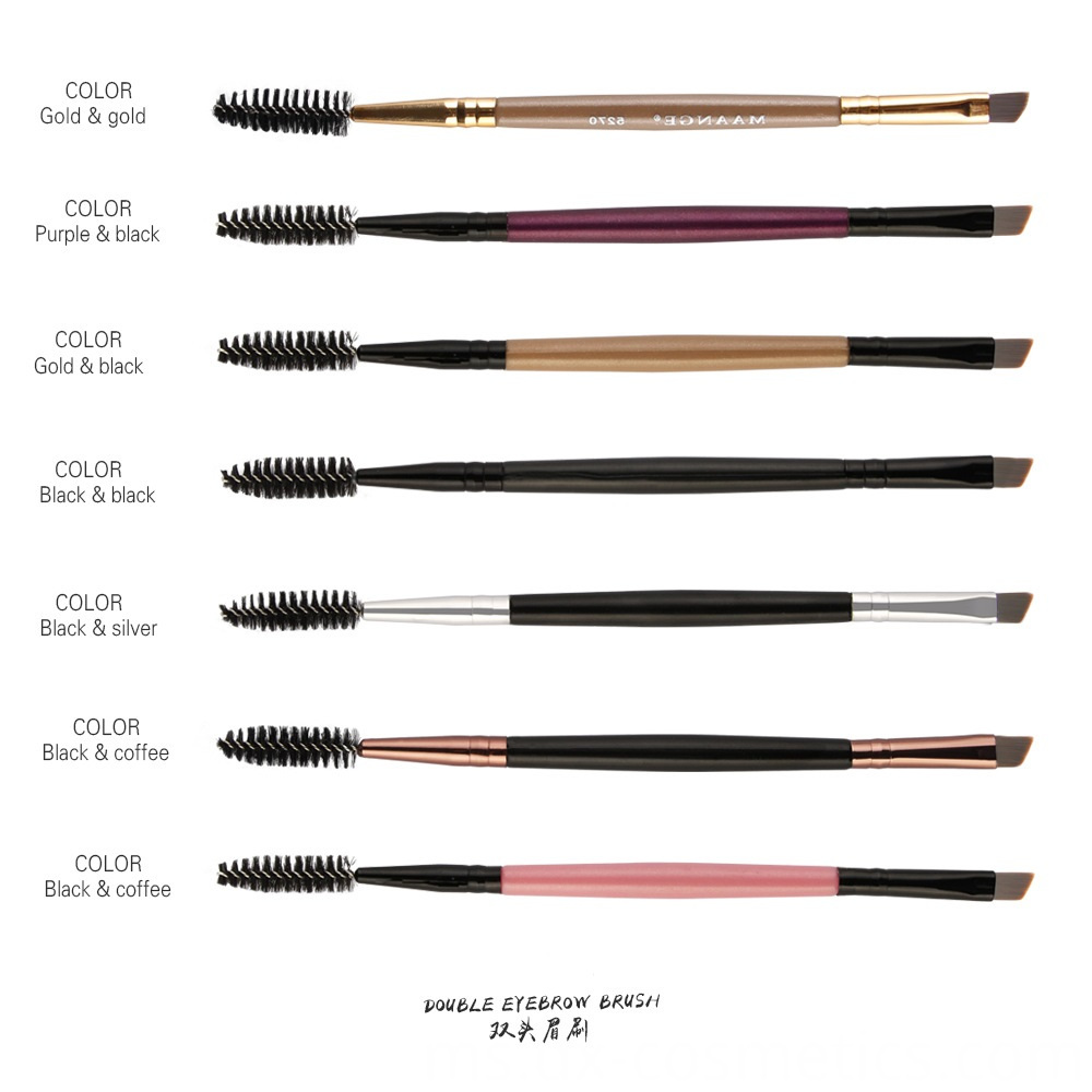 Double Head Eyebrow Makeup Brush 5
