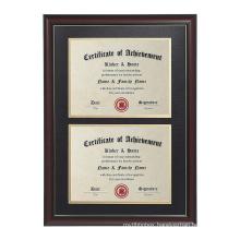OEM 8.5x11 black wood document certificates frame Degree framedouble graduation frame diploma frame  with tasslw