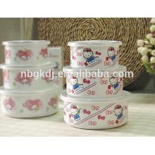 tazón de fuente del hielo del esmalte / vajilla disponible para la boda