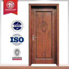 Casa acabada mais recente design interior porta de madeira esculpida