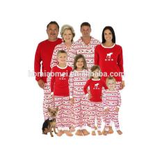 2017 Bulk Großhandel Kinder Kleidung Kinder Mädchen Deer Print Weicher Baumwolle Kinder Weihnachten Pyjamas