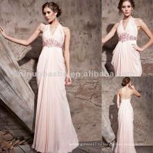 Нью-Йорк-2554 девочек ярко-розовый Холтер длинное вечернее платье