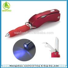 Cute promotional plastic 4 in 1 ball pen/multi function ball pen/led light ball pen
