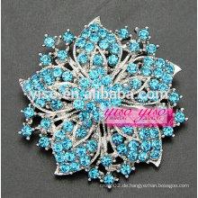 Weibliche weinlese farbige kristalle blumenbrosche