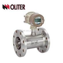 Aço inoxidável 304 Medidor de fluxo de saída 4-20ma medidor de gás de turbina digital