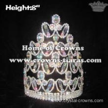 8in Crystal AB Diamond Pageant Crowns