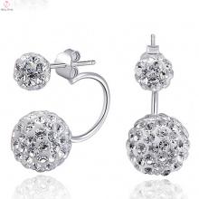 925 Sun Silber Ohrringe Stud Post mit Cz Diamant-Schmuck