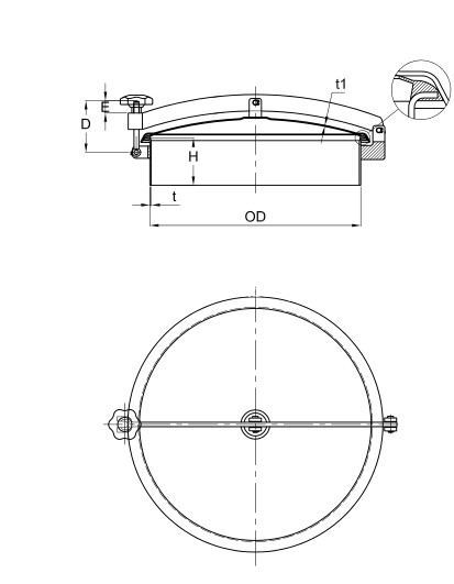 sanitary circular manways