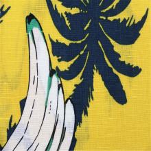 Ткань с рисунком бананового дерева, лен / хлопок