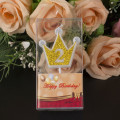 Zahl geformte Crown Birthday Party Kerzen