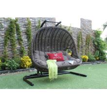 Double Seater Outdoor Patio Garden Wicker Swing Chair Poly Rattan Hammock