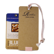 China factory custom price tag recycled kraft paper hang tag print price tag labels for clothes