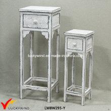 Четыре ноги Деревянные антикварные декоративные табуреты
