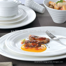 Double line series hotel white tableware, dinnerware set, porcelain dinnerware