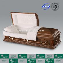 Porta-LUXES on-line American Popular caixão de madeira com punho do caixão