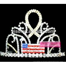Las tiaras más nuevas de la joyería del rhinestone de las decoraciones del pelo de la cinta