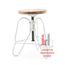 Iron Design Adjustable Stool