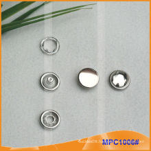 Prong Snap Button with Metal Cap
