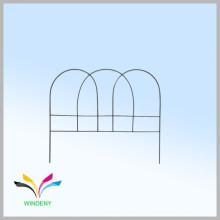 El polvo negro del diseño simple de la alta calidad cubrió la cerca revestida del acoplamiento de alambre del jardín