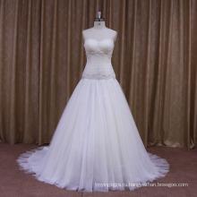 Сверкают Бусы Индивидуально Подобранная Свадебные Платья Цвета Слоновой Кости