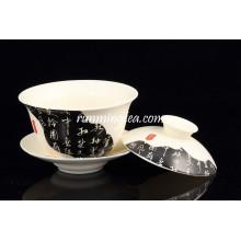 China News Paper Pintura Porcelana Gaiwan