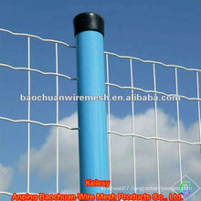 Galvanized welded road protecting traffic barrier