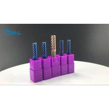 Cortador do raio do canto do moinho de extremidade do corte do metal das ferramentas de corte do CNC / carboneto de tungstênio