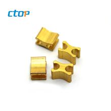 H shaped metal gold plating bottom stopper for zipper