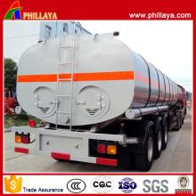 Oval Bitumen Tank Tri-Axle 30-50 Cbm Asphalt Tanker Semi Trailer