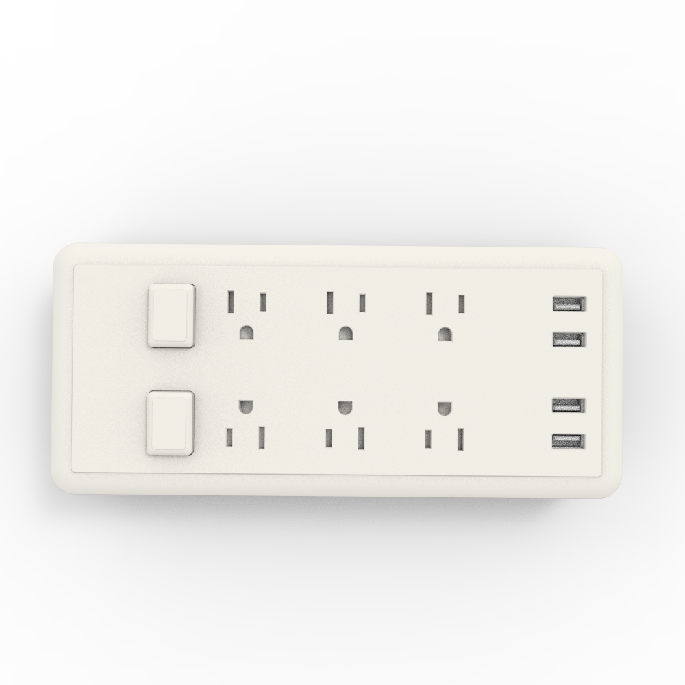 USB Charger 6 Outlet Receptacle Outlet