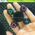 Comercio al por mayor de Sillicone Glow en Dark Fidget Symbol Hand Spinner Adhd EDC Enfoque Juguete de la ansiedad