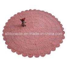 Пользовательские OEM ручной вязать крючком Хлопок круглый одеяло одеяло завод