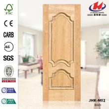 JHK-M02 New Solid Wood Design Villa Interior Brich Veneer Natural Thailand Door Panel