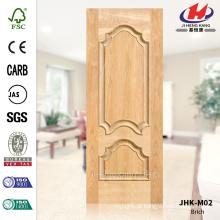 JHK-M02 Novo Design de madeira maciça Villa Interior Brich Veneer Natural Tailândia Porta Painel