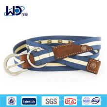 Men Jeans D Rings Canvas Webbing Belt