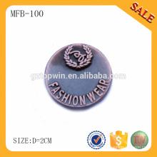 MFB100 Пользовательские антикварные медные одежды кнопки, декоративные металлические кнопки для джинсов / пальто