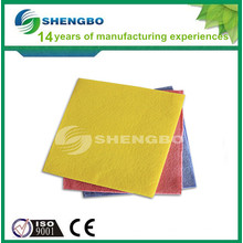 Colors needle punched nonwoven wipes 36CM*40CM YELLOW
