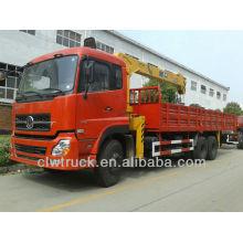 Dongfeng Tianlong 6x4 pickup truck crane in Peru