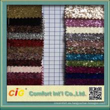 Decoración uso brillo tela Material cuero sintético brillante