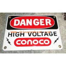 Sunboat Scutcheon, Enamel Label, Art Work, Craft, Warning Mark, Enamel Sign Board