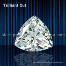 Shinee Triângulo Forma Trilliant Corte Cubic Zirconia