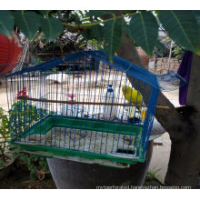 China Factory High Quality Beautiful Blue Metal Wire Bird Cage