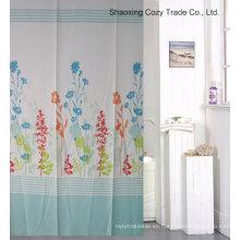 Cortina de ducha de tela de diseño de la planta