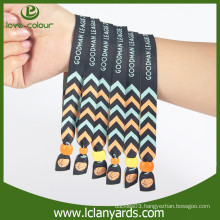 Cheap custom make polyester identification fabric wristband