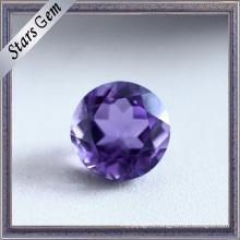 Round Beautiful Natural Cut Amethyst Semi Precious Stone
