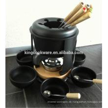 Gusseisen Geschirr Fondue-Set