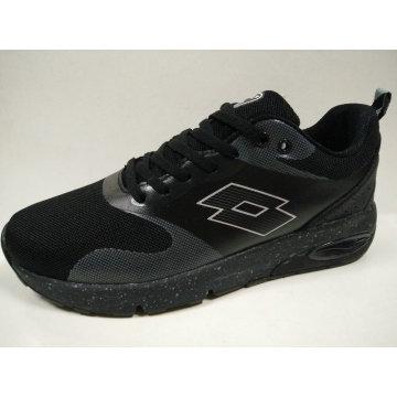 Black Knitting Flat Shoes Shock Absorb Footwear