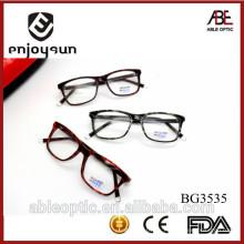 Alta calidad 2015 MULTI coloreó el acetato del diseño de la manera hecho a mano gafas marcos ópticos eyewear eyeglasses