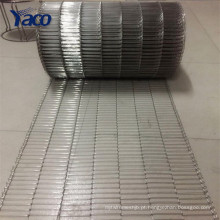 correia 304 304l 316 316l de aço inoxidável, malha do transporte para a indústria alimentar
