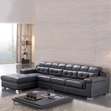 Lounge Brown Leather 2-Piece Sectional Sleeper Sofa